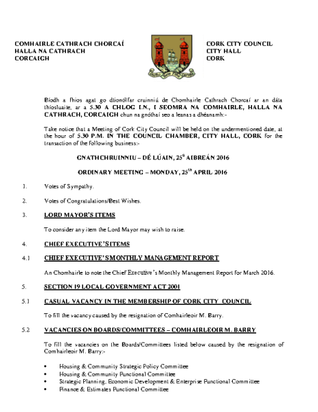 2016-04-25 - Agenda - Council Meeting front page preview