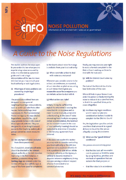 ENFO---A-Guide-to-the-Noise-Regulations front page preview