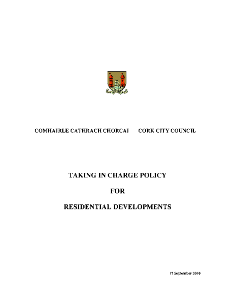 Taking-in-Charge-Policy front page preview