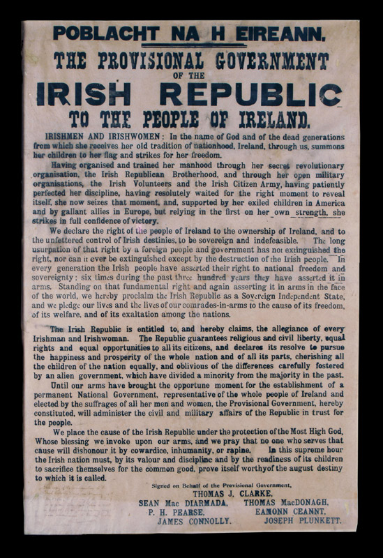 Copy of the 1916 Proclamation