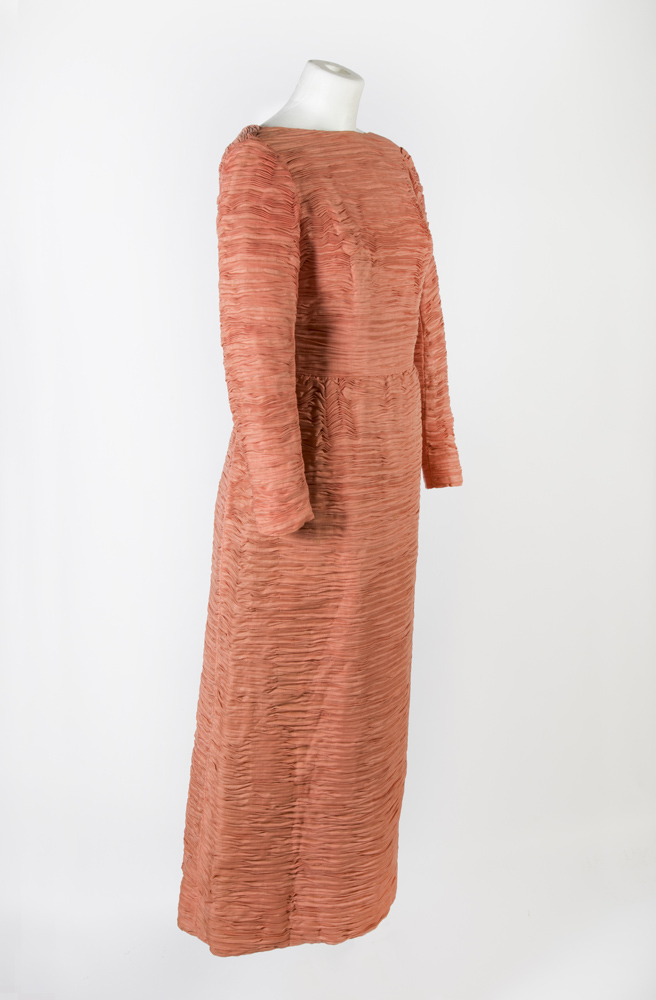 Evening dress. Owned by Maureen Lynch, designed by Sybil Connelly