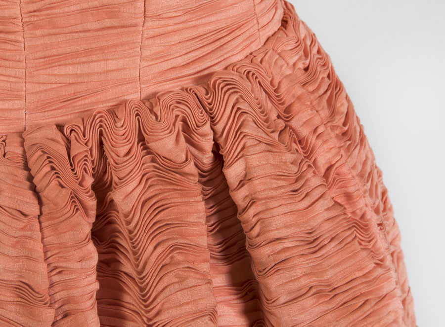 Evening dress. Owned by Maureen Lynch, designed by Sybil Connelly (detail)