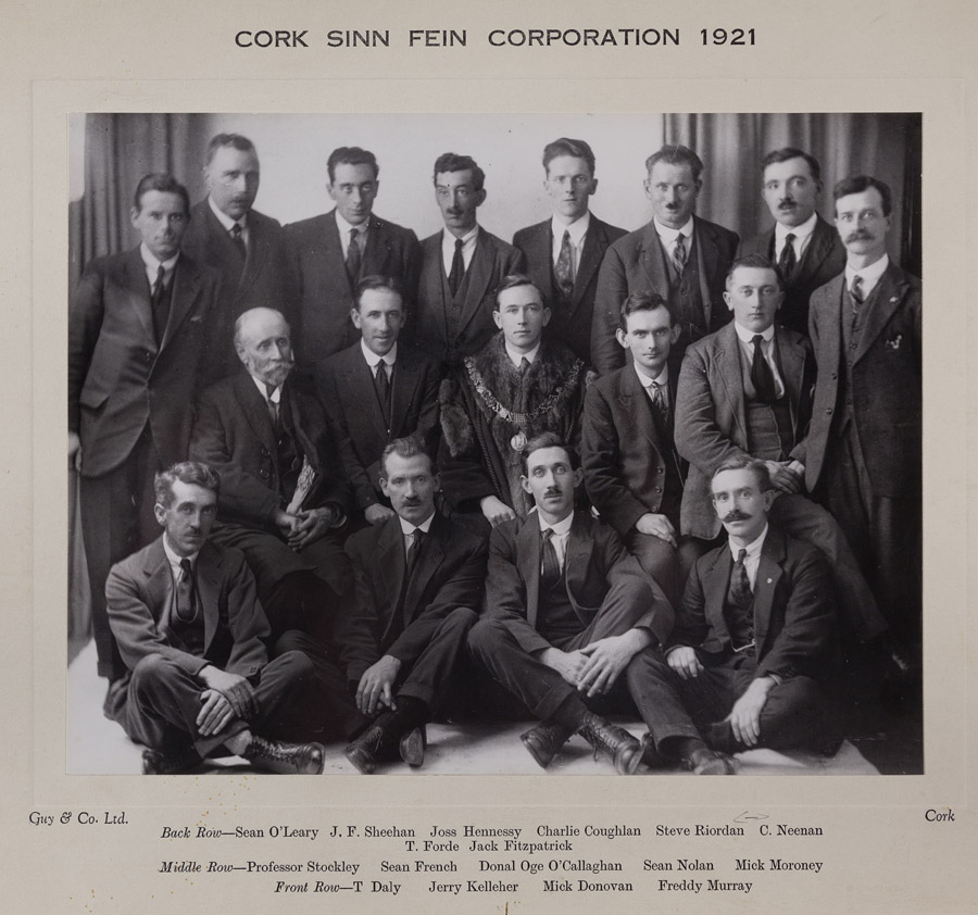 L1988.4-D2.10-Photo-Sinn-Fein-Members-of-Cork-Corporation-City-Council-1921-120-x-80cm