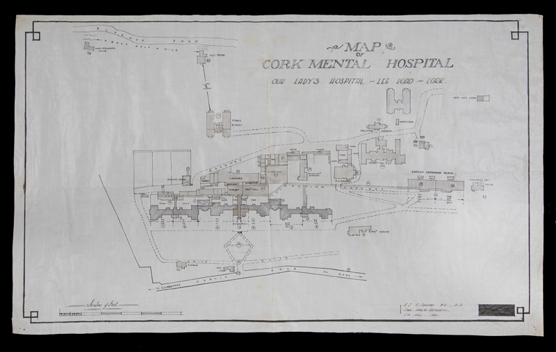 Map of Our Ladys Hospital (Cork Mental Asylum)