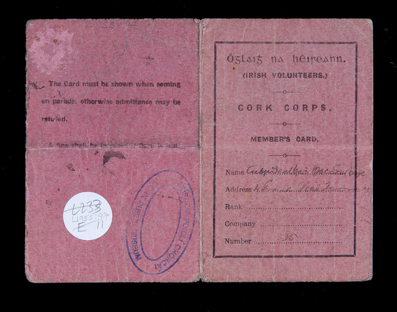 Membership-Card-Irish-Volunteers-Cork-Corps-owned-by-Terence-MacSwiney