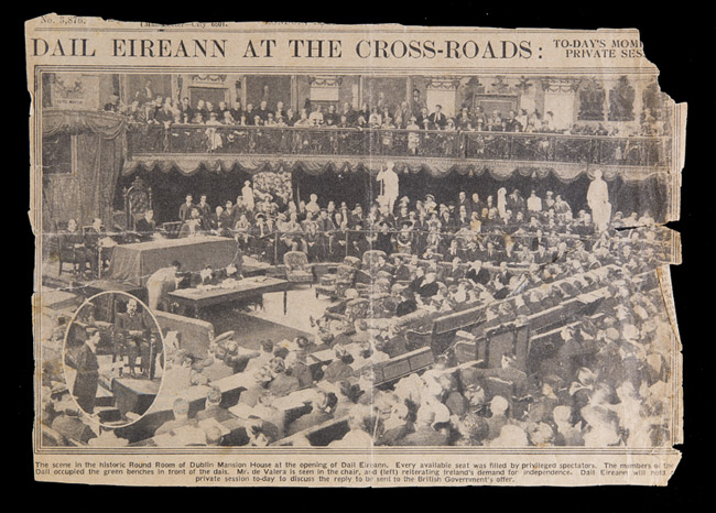Newspaper-Clipping-of-the-first-Dail-Eireann-sitting-1919