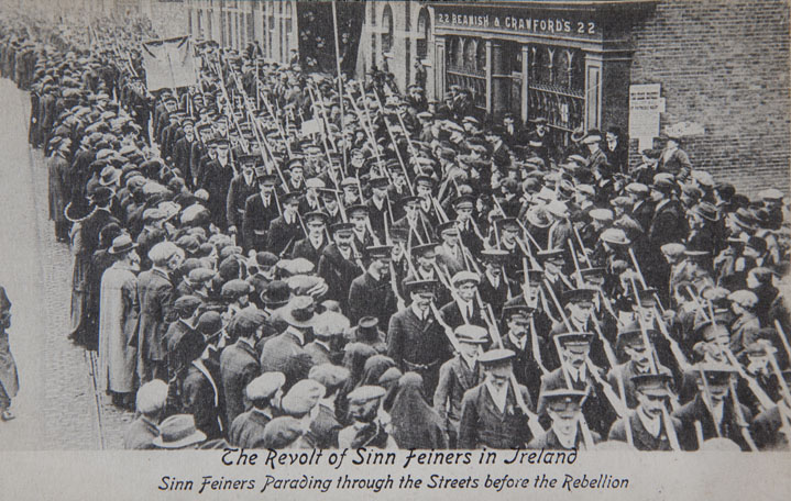Volunteers-marching-through-the-street-od-Cork-before-the-1916-Rebellion
